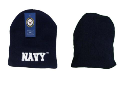 """Navy USN Letters Military Embroidered Beanie Skull Cap Hat WIN602D TOPW 8/"""" U.S"""
