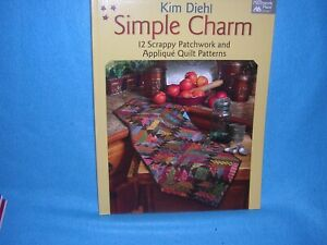 Simple-Charm-12-Scrappy-Patchwork-and-Applique-Quilt-Patterns-by-Kim-Diehl