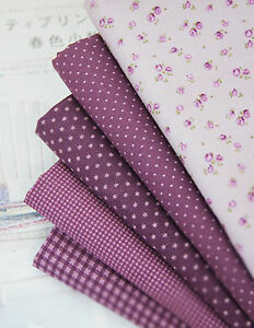 Penny-Violet-100-Cotton-Fabric-floral-polka-dot-checked-star-Quilting-JC10-58