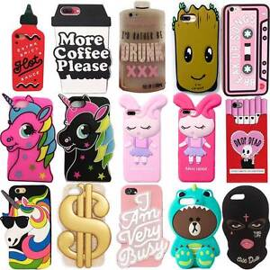brand new 9d4a5 5655e Details about 2018 3D Cartoon Soft Silicone Phone Case Back Cover For  iPhone X SE 5 6 7 8 Plus