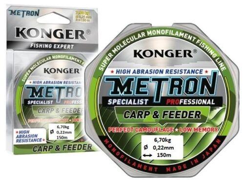 0,039 €//m Fil De Pêche Kong Métron Specialist Pro Carp /& Feeder Bobine 150 m