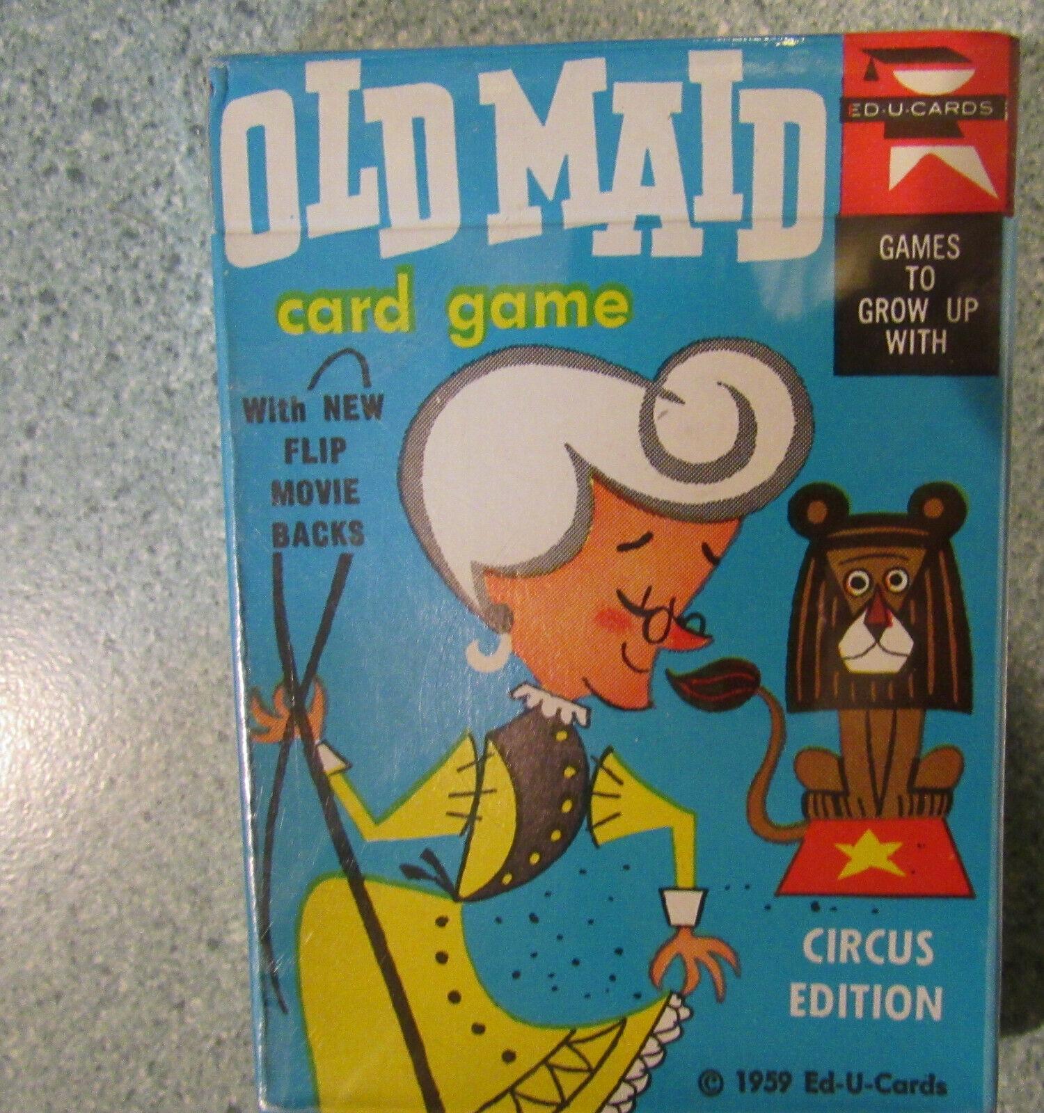 calidad de primera clase Juguete Vintage Ed u tarjetas tarjetas tarjetas 1959 solterona Juego de Cochetas Edición Circo Plástico Original  mejor calidad mejor precio
