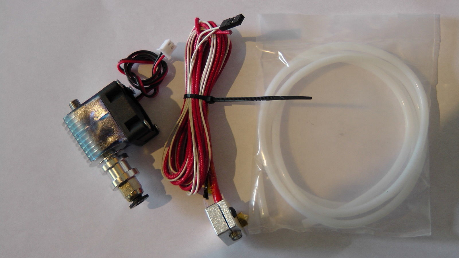 E3D v6 J-Head Hotend + Fan, Bowden Extruder + 1 Metre PTFE - 3D printer Part