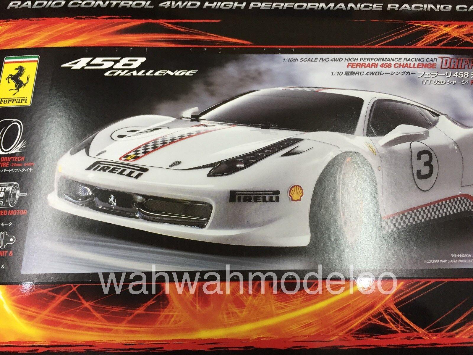 Tamiya 93042 1 10 RC Ferrari 458 Challenge TT02D Drift Spec