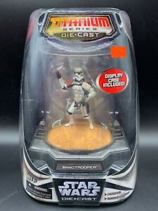 Star-Wars-Titanium-Series-Painted-Die-Cast-Figure-Sandtrooper-amp-Display-Case