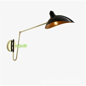 Details About Arm Adjule Wall Lamp Modern Serge Mouille Light Bedside Rotating Sconce