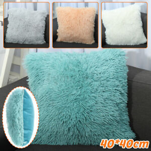 Fluffy-Soft-Plush-Square-Pillow-Cushion-Case-Waist-Throw-Cushion-Cover-Pad