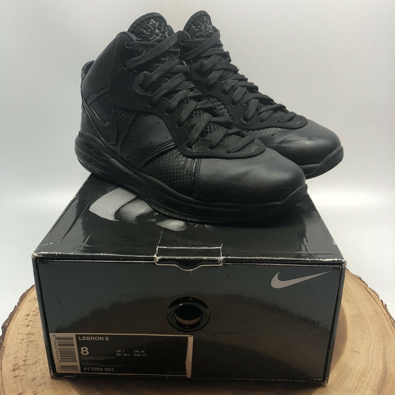 online store 3b90b 34f6c Nike Lebron 8 Blackout Black Basketball Shoes 417098 417098 417098 001  Jordan Penny Foamposite 1221bf