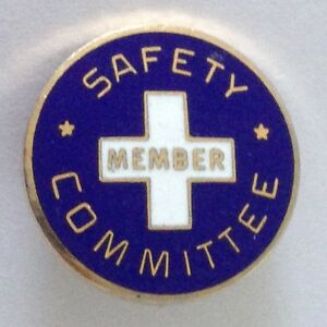 Argonaut-Safety-Committee-Member-Service-Pin-Badge-Vintage-Original-N4