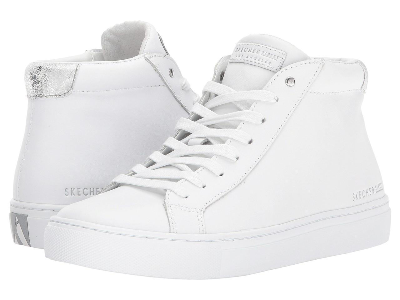 Skechers blancoo Cuero Grueso Minimalista subida de ajuste de alta Tops WMS Disco nuevo con etiquetas