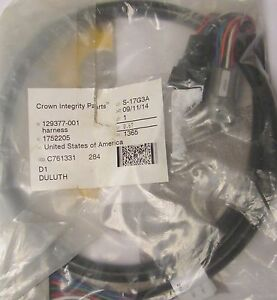 s l300 crown 129377 001 forklift wiring harness 24534 c761331 rev f jc601