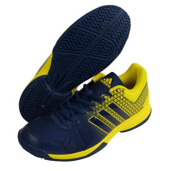 Adidas Ligra 4 Para hombres Zapatos Amarillo Azul Marino Raqueta Raqueta de Badminton Sport Nuevo con etiquetas BA9667