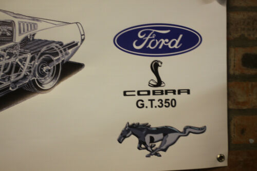FORD MUSTANG SHELBY COBRA gt350 grande lavoro in pvc Negozio Garage Banner mostra