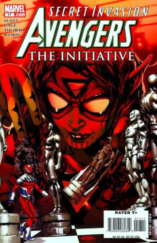2007 #17 VF//NM SECRET INVASION TIE-IN THE INITIATIVE AVENGERS