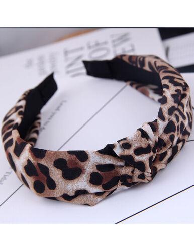 Haarreif mit Leo Muster Knoten   Retro Style Haarschmuck Haarband