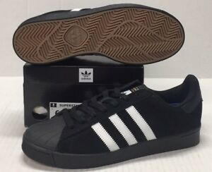 new product a24cb be17b Image is loading ADIDAS-SUPERSTAR-VULC-ADV-AQ6861-BLACK-WHITE-STRIPES