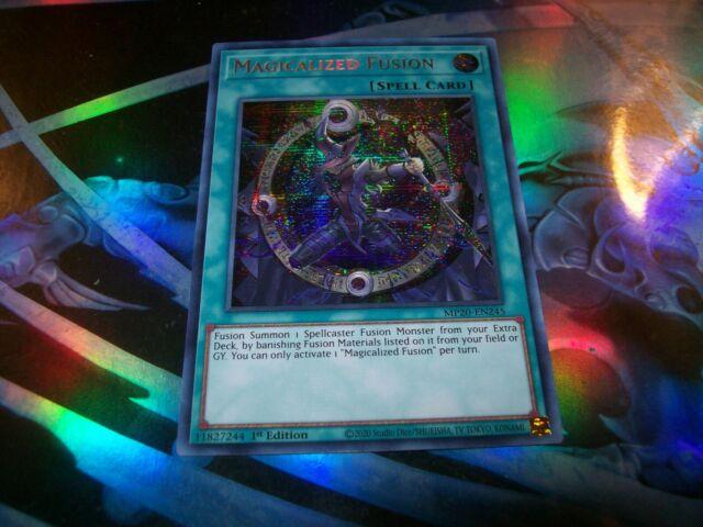 MP20-EN245 Prismatic Secret Rare 1st E YGO-1x-Near Mint-Magicalized Fusion