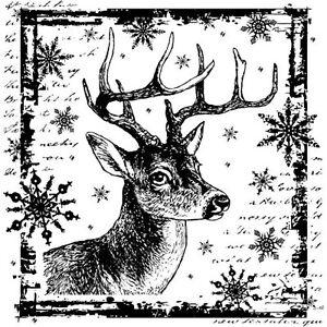 Crafty-Individuals-RENTIER-unmont-Stempel-Gummi-Weihnachten-Hirsch-Winter-Elch