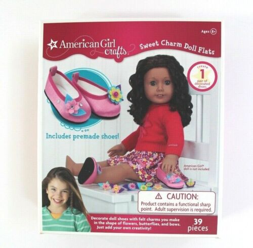 American Girl Crafts Sweet Charm Doll Flats Create 1 Pair of Decorated Shoes