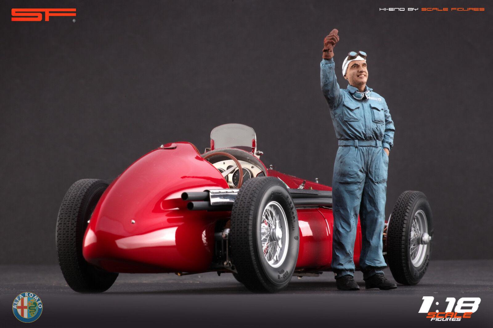 1 18 Nino Farina figurine VERY RARE     NO CARS    for diecast collectors