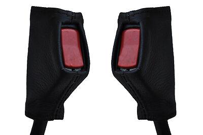 Black stitch fits MG MGB 66-80 2x ceinture en cuir tige couvre uniquement