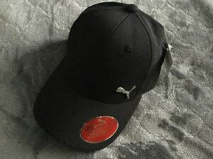 low priced 242ac e046a ... netherlands image is loading puma black evercat alloy stretch fit cap  hat e52d1 bd601