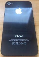 Arrière De Rechange Verre pour Apple iPhone 4 Noir