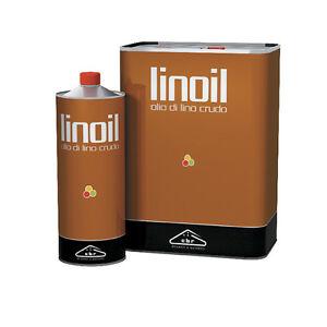 LINOIL OLIO DI LINO CRUDO 1 E 5 LITRI IMPREGNANTE PER LEGNO E ...