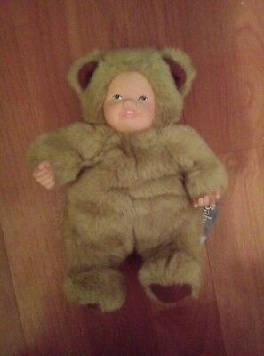 New With Tags Anne Geddes Punctual Vintage No Box! Baby Bear Bean Filled Doll