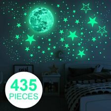 Wall Art Decor Wall Stickers Murals for Kids Girls Boys Bedroom Nursery Keluns Removable Glow in The Dark Moon Star Sticker for Ceiling Starry Sky Galaxy Wolf Wall Decal Stickers