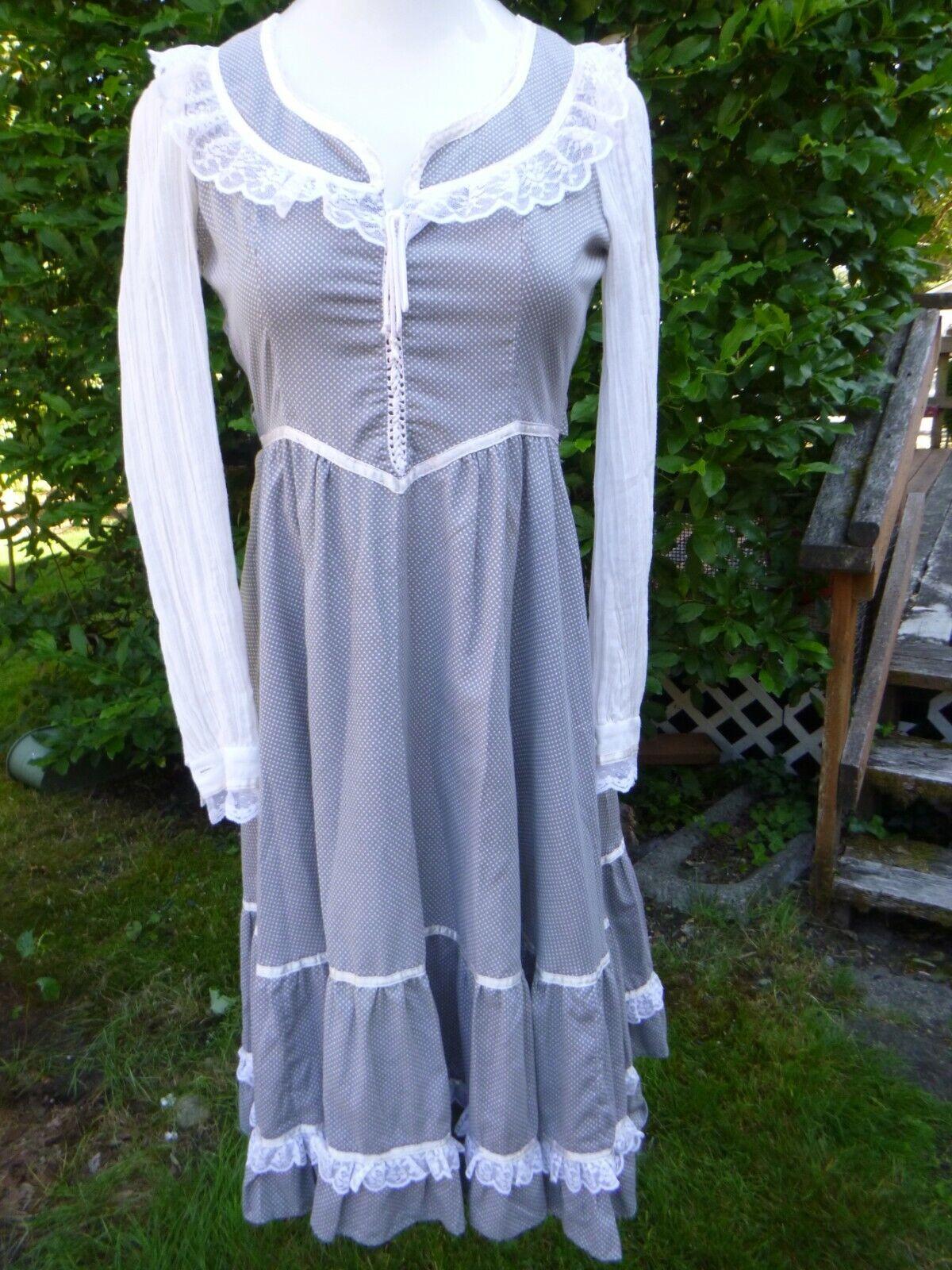 Vintage Gunne Sax Cotton Boho Prairie Dress Size … - image 1
