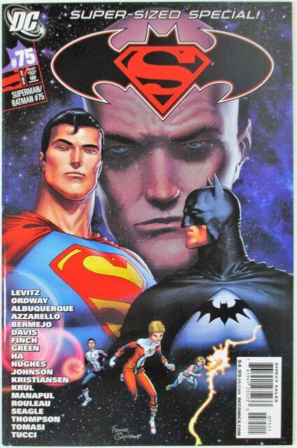 Superman Batman #75 NM- Frank Quitely Cover Super-Sized Special DC Comics 2010