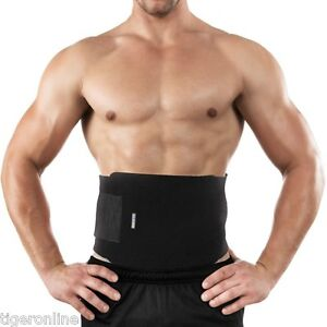 e163345f488 Waist Trimmer Belt Sweat Band Wrap Tummy Stomach Weight Loss Fat ...