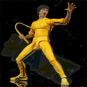 Bruce-Lee-The-Legend-Yellow-Jumpsuit-15cm-6-034-PVC-Figure-Toy-Model-In-Box-Gift