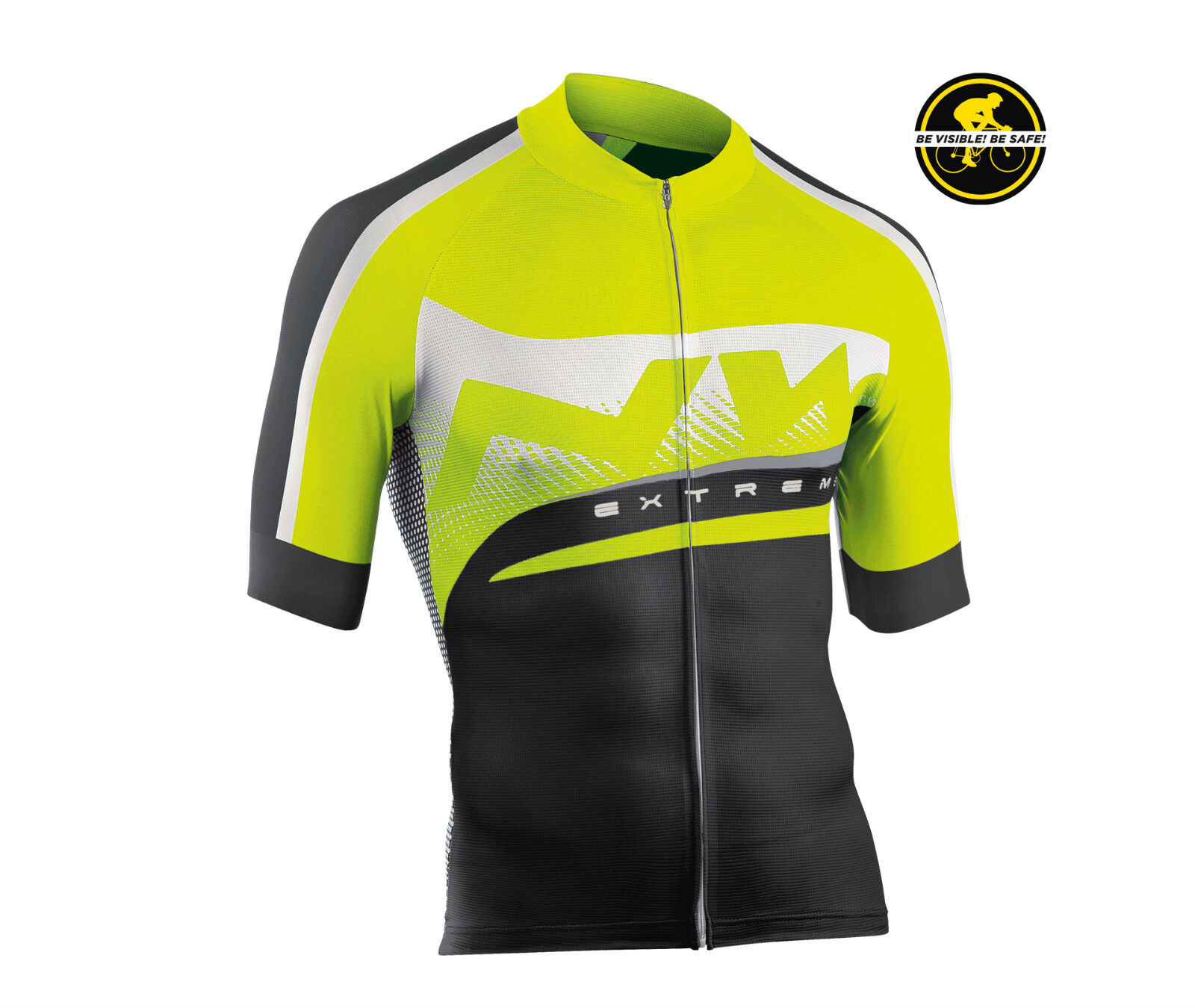 Maillot Manches Courtes NORTHWAVE EXTREME GRAPHIQUE black   yellow JERSEY EXTR