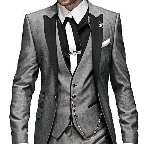 60aba5f6d4c03c Light Grey Groom Wedding Suits Groomsmen Tuxedos Formal Men Business Prom  Suits