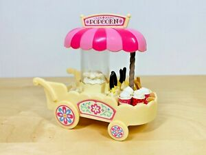 Sylvanian-Families-Pink-Popcorn-Cart-Wagon-Set-Churros-Chocolate-Bananas