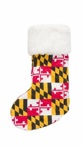 Maryland Flag Plush Soft Stocking