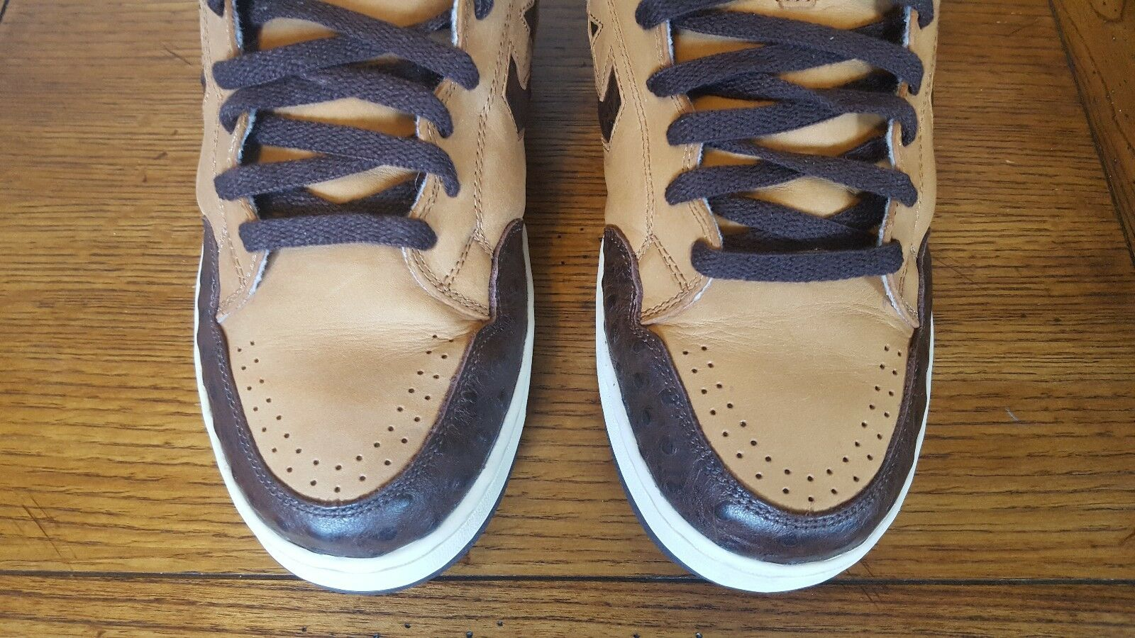 CONVERSE WEAPON BROWN BROWN BROWN / OSTRICH BASKETBALL SHOES SIZE 11.5 0697a2