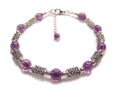 Amethyst Sterling silver earrings gemstone purple Crystal goth gothic wedding