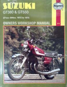 Haynes-Manual-0216-Suzuki-GT380-amp-GT550-72-75-NEW
