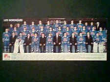 1992-93 QUEBEC NORDIQUES 3 1/4-INCH X 8-INCH TEAM PHOTO CARD