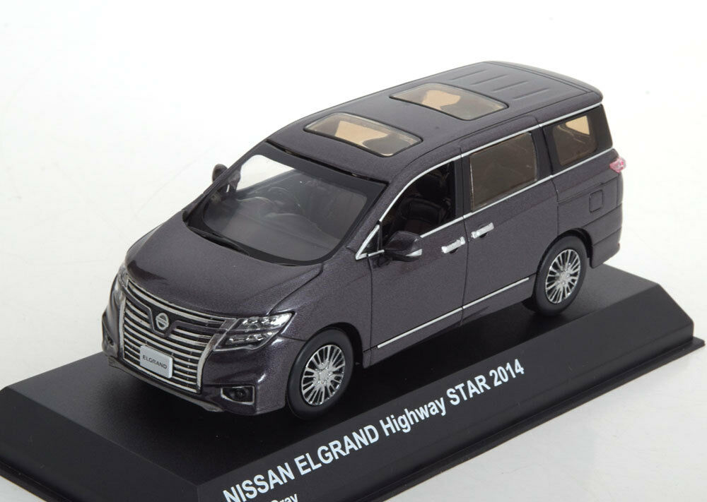 Nissan elgrand highway star 2014 metall grauen kyosho 03881mgr 1   43 grauer lieferwagen