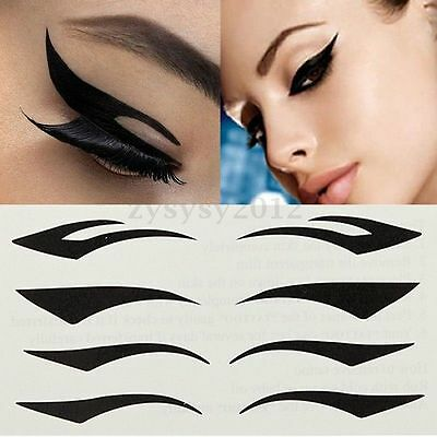 Black Smoky Eye Temporary Tattoo Eyeliner Eyeshadow Sticker Setyeliner Stickers