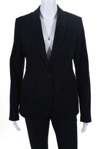 Ecru Womens Button Blazer Navy Blue Size 4