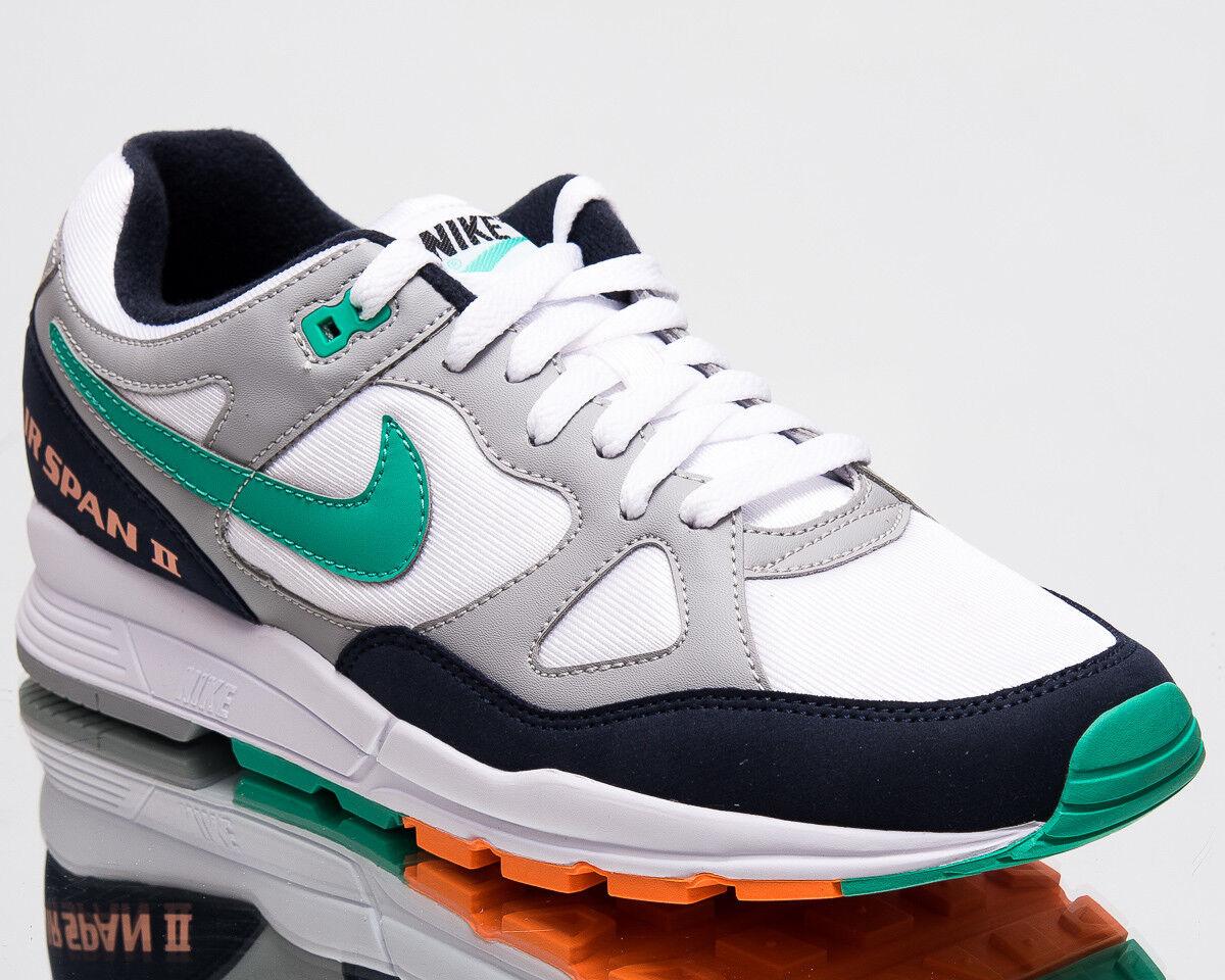 Nike Air Span II hommes New Sneakers hommesWolfGrisKinetic GreenChaussuresAH8047-006