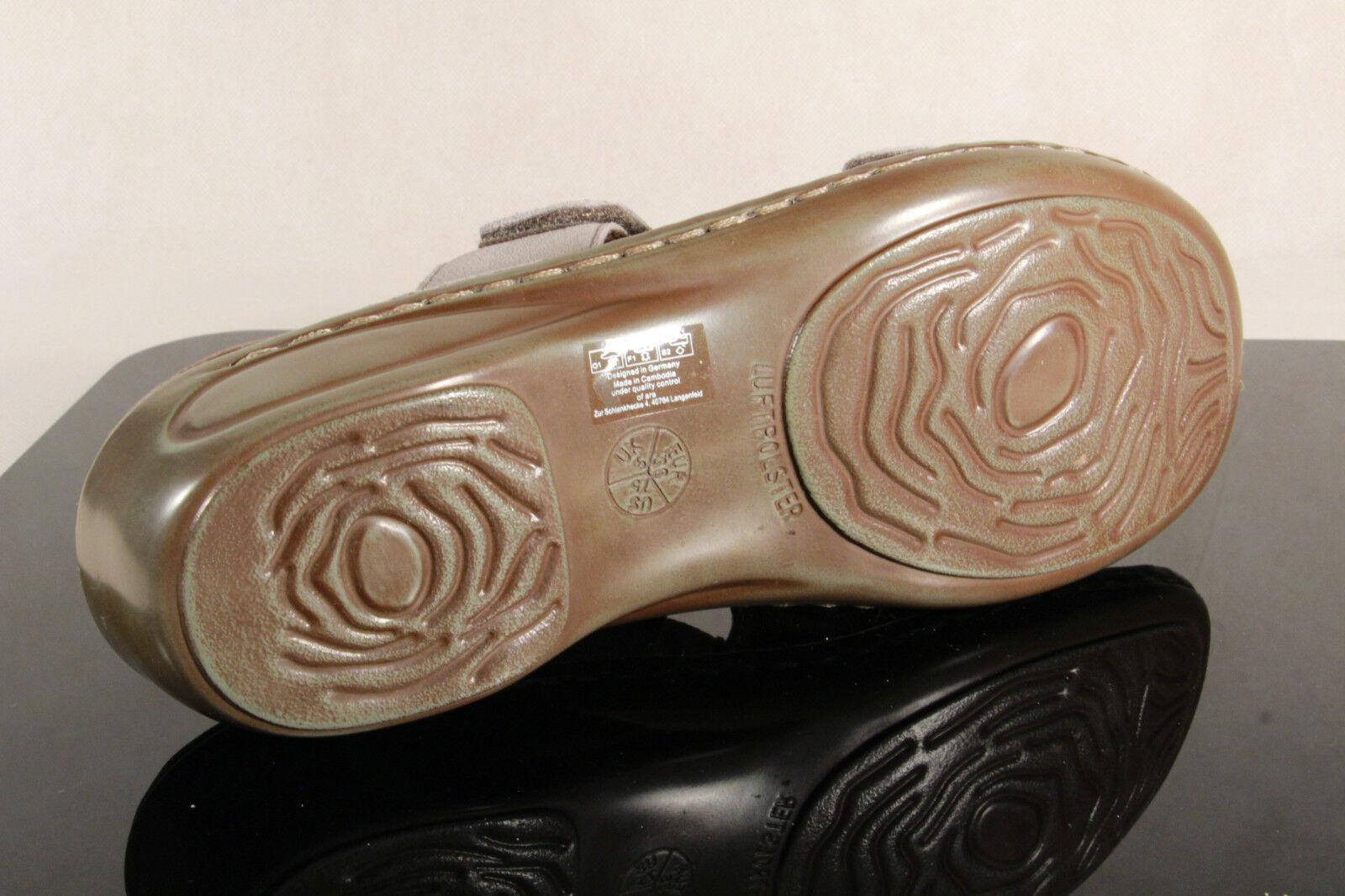 Ara Pelle Sandali Sandali Pantofole Zoccoli Pantofole in Vera Pelle Ara Grigio 27273 NUOVO! 94615d