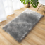 Ultra Soft Faux Fur Area Rug Grey Fluffy Rug Plush Chair Cover Seat Pad Fuzzy Ca