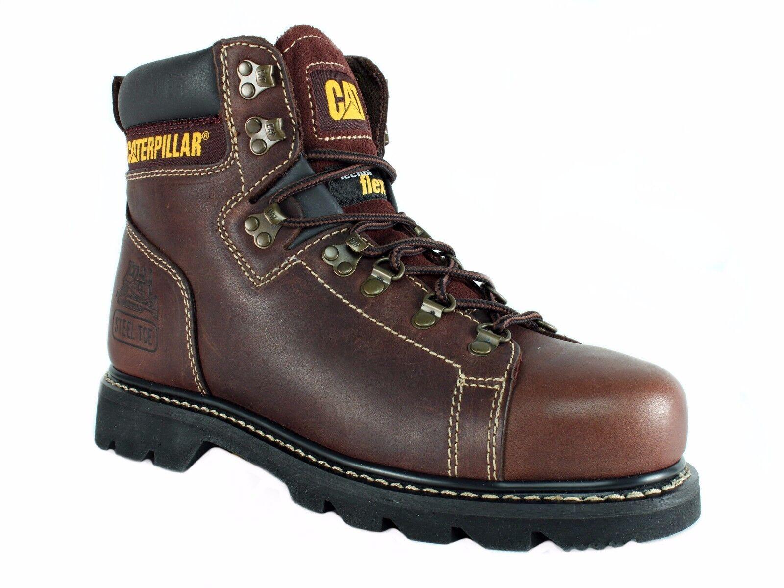 Caterpillar ALASKA FX ST Puntera De Acero botas Para Hombre Seguridad Trabajo Cuero Marrón