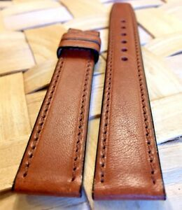 Genuine-MOVADO-17mm-Brown-Western-Leather-Watch-Strap-Band-New-Retail-75-00
